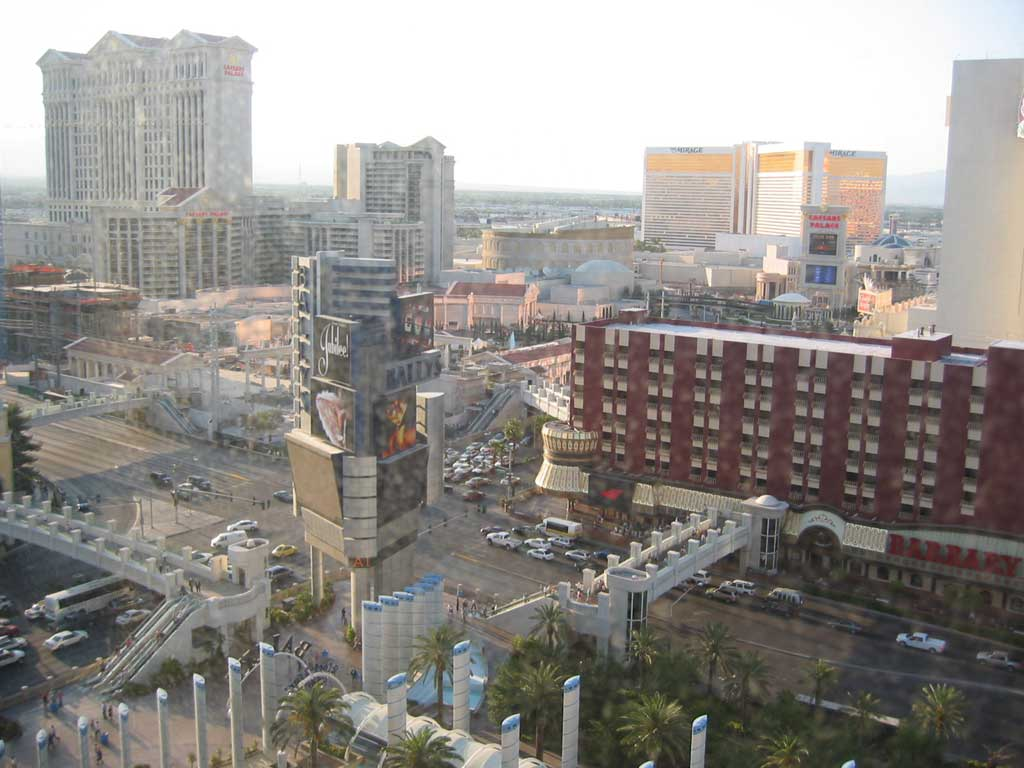 Views of the Las Vegas Strip from our hotel room at Bally's